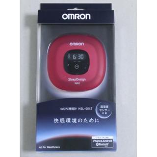オムロン(OMRON)のオムロン ねむり時間計 HSL-004T-R レッド(その他)