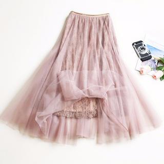 リズリサ(LIZ LISA)の夏SALE♥ チュールスカート ロングスカート プリーツスカート 花柄レース(ロングスカート)