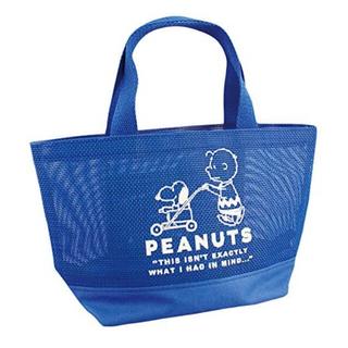 ピーナッツ(PEANUTS)のPEANUTS メッシュ ランチ バッグ 【新品未使用】スヌーピー(キャラクターグッズ)