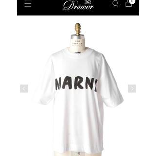 ドゥロワー(Drawer)の新品未着用☆ 2020マルニMARNI オーバーシルエットTシャツ 雑誌掲載(Tシャツ(半袖/袖なし))