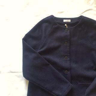 ヤエカ(YAECA)の休日と詩 メルトンウールジャケット 新品(ノーカラージャケット)