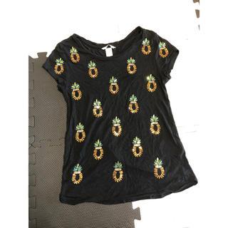 エイチアンドエム(H&M)のパイナップル スパンコール Tシャツ(Tシャツ(半袖/袖なし))