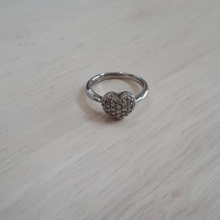 K18WGダイヤモンド ピンキーリング(リング(指輪))