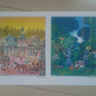 ディズニー(Disney)のディズニーリゾート ポストカード7点set(使用済み切手/官製はがき)