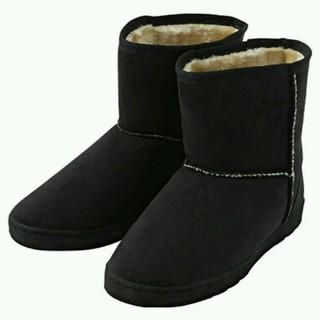 ムジルシリョウヒン(MUJI (無印良品))の無印良品の黒のムートンブーツ(ブーツ)