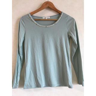 グローブ(grove)のパール付きカットソーインナー(Tシャツ/カットソー(七分/長袖))