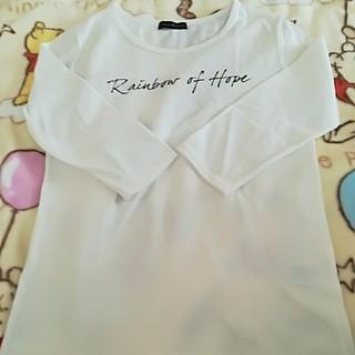 シマムラ(しまむら)の白 Tシャツ ロンT カットソー 七分 薄手(Tシャツ(長袖/七分))