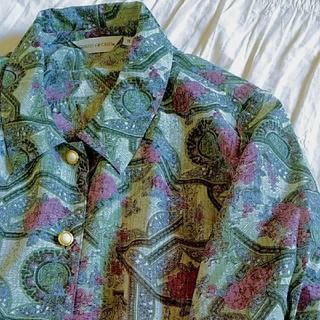 グリモワール(Grimoire)のヴィンテージ ブラウス 透け素材(シャツ/ブラウス(半袖/袖なし))