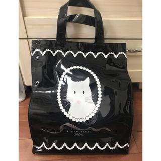 ラデュレ(LADUREE)のラデュレ LADUREE 猫 トートバッグ 黒 美品(トートバッグ)