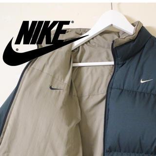 ナイキ(NIKE)のナイキ NIKE リバーシブル ダウンジャケット ワンポイン ロゴ 古着 メンズ(ダウンジャケット)