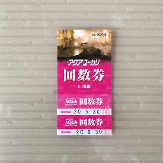 ♨️アクア ユーカリ 回数券 2枚(プール)