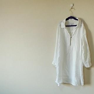 シマムラ(しまむら)のCLOSSHI 白シャツリネン100%(シャツ/ブラウス(長袖/七分))