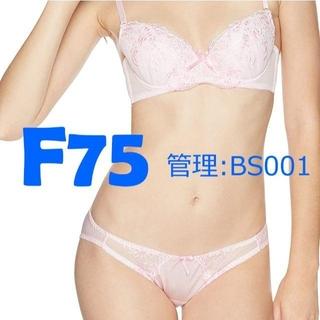 ブラジャー・ショーツ 下着 セット ピンク 桃色 F75 #001(ブラ&ショーツセット)