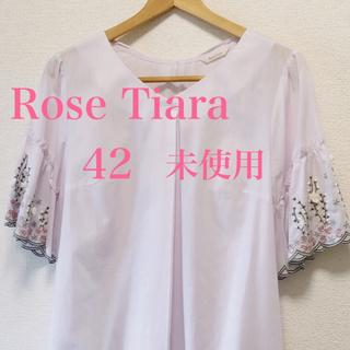 ローズティアラ(Rose Tiara)のローズティアラ半袖ブラウス42大きいサイズLL〜3L  (シャツ/ブラウス(半袖/袖なし))