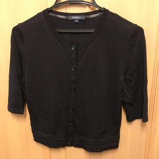 バーバリー(BURBERRY)の美品 バーバリーロンドン カーディガン ボレロ 黒 半袖(カーディガン)
