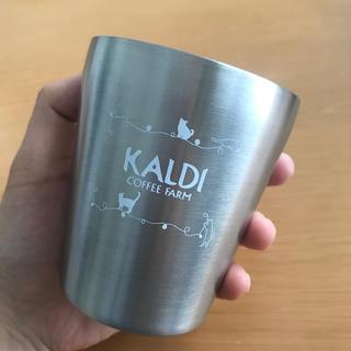 カルディ(KALDI)のKALDI🐱猫の日バッグ ステンレスタンブラー☕️(タンブラー)