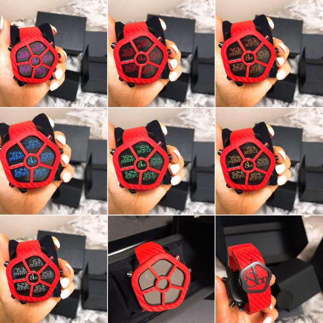 【 最終値下げ 】ジェイコブ ゴースト 赤 カーボン JC-GST-CBNRD メンズの時計(腕時計(デジタル))の商品写真