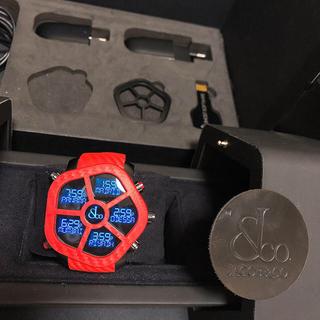 【 最終値下げ 】ジェイコブ ゴースト 赤 カーボン JC-GST-CBNRD(腕時計(デジタル))