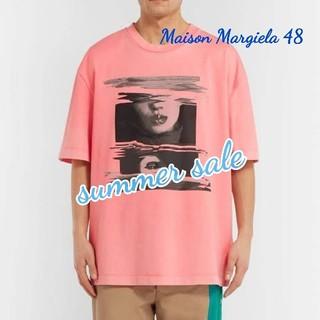 マルタンマルジェラ(Maison Martin Margiela)の【新品】Maison Margiela ビックシルエット ピンクTシャツ 48(Tシャツ/カットソー(半袖/袖なし))
