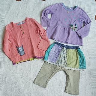 ラグマート(RAG MART)のラグマート ラグペット 90 95 女の子 3枚セット(Tシャツ/カットソー)