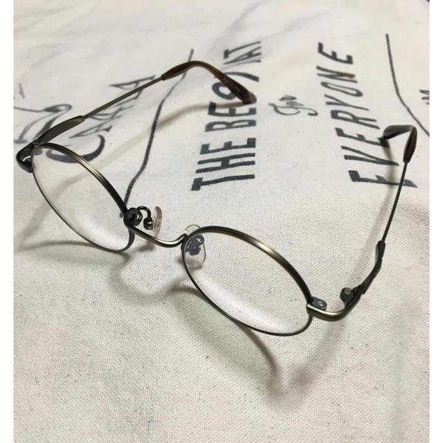Ayame(アヤメ)のジョンレノン 丸眼鏡 形状記憶フレーム 新古品 ブロンズ アンティーク ブラウン メンズのファッション小物(サングラス/メガネ)の商品写真