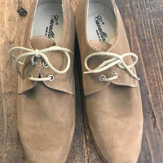 イタリア製ベージュスェード紐靴(ドレス/ビジネス)