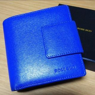 ローズバッド(ROSE BUD)のROSE BUD 折り財布 (ブルー)(財布)