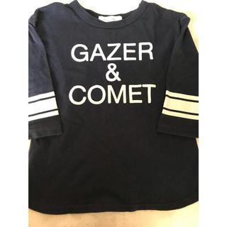サンカンシオン(3can4on)の3can4on プリント 7分袖 Tシャツ 120サイズ カットソー ネイビー (Tシャツ/カットソー)
