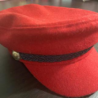 ザラ(ZARA)のZARA 帽子 赤(ハンチング/ベレー帽)