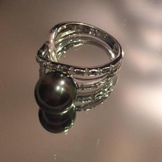真珠 黒真珠 指輪 ⌚︎夜間SALE⌚︎(リング(指輪))