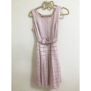 エニィスィス(anySiS)のanysis エニシス ドレス ピンク パーティードレス 結婚式 お呼ばれ(ミディアムドレス)