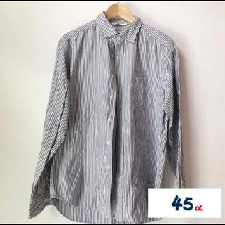 フォーティーファイブアールピーエム(45rpm)の45R メンズ ストライプシャツ(シャツ)