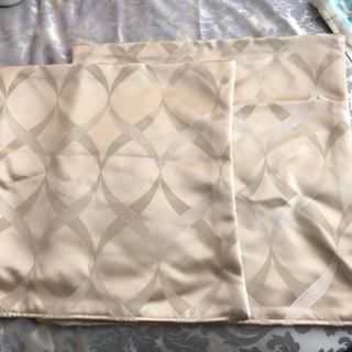 ウニコ(unico)のクッションカバー 2枚セット 40角 45角 ゴールド ベージュ 柄(クッションカバー)