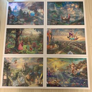 ディズニー(Disney)のトーマスキンケード ディズニー アラジン 6枚セット 額付き(絵画/タペストリー)