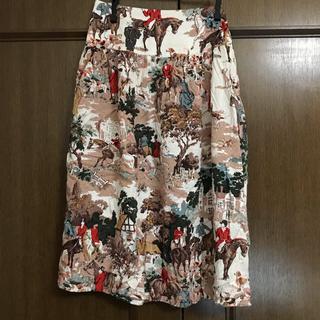 フィグロンドン(fig London)のフィグロンドン park printスカート(ひざ丈スカート)