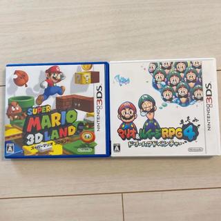ニンテンドー3DS(ニンテンドー3DS)のスーパーマリオ3Dランド、マリオ&ルイージRPG4 ドリームアドベンチャー(家庭用ゲームソフト)