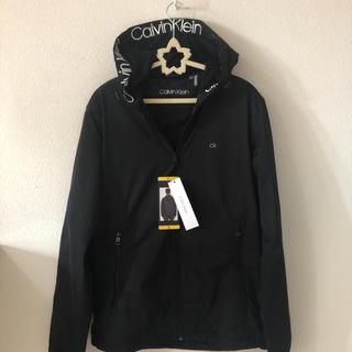 カルバンクライン(Calvin Klein)のカルバン クライン CK ロゴ 黒ナイロン ジャケット パーカー 新品 ブランド(ナイロンジャケット)