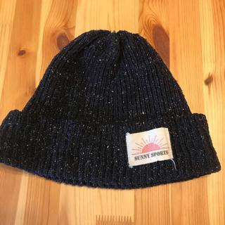 フリークスストア(FREAK'S STORE)のサニースポーツ ニットキャップ  ビーニー 帽子 杢ネイビー(ニット帽/ビーニー)