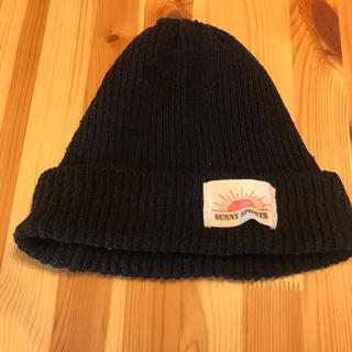 ユナイテッドアローズ(UNITED ARROWS)のサニースポーツ ニットキャップ  ビーニー 帽子 ブラック(ニット帽/ビーニー)
