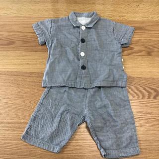 ムジルシリョウヒン(MUJI (無印良品))の無印良品 パジャマ チェック 80 半袖 半ズボン(パジャマ)