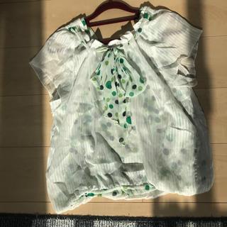 エスタコット(ESTACOT)の重ね着風リボン トップス(シャツ/ブラウス(半袖/袖なし))