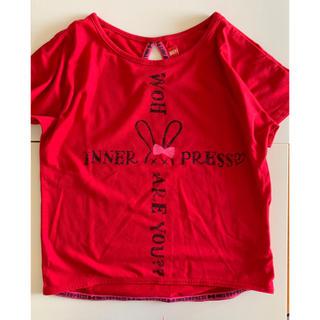 インナープレス(INNER PRESS)の女の子120 インナープレス 赤 Tシャツ(Tシャツ/カットソー)