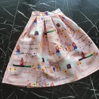 ドルチェアンドガッバーナ(DOLCE&GABBANA)のティアモマンマ スカート フレア ピンク(ひざ丈スカート)