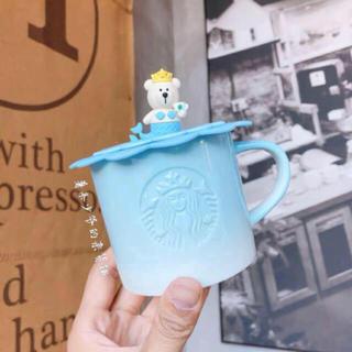 スターバックスコーヒー(Starbucks Coffee)の専用!ベアリスタ マグカップカバー 蓋 シリコンカバー 熊 台湾スターバックス(グラス/カップ)