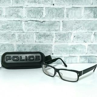 ポリス(POLICE)のPOLICE 黒縁メガネ 度入り(サングラス/メガネ)