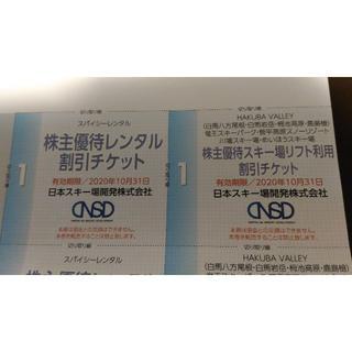 値下げしました。日本スキー場開発株主優待券(スキー場)