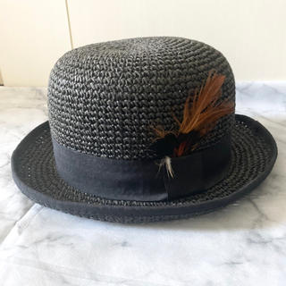 カシラ(CA4LA)のボーラーハット ストローハット 麦わら帽子(麦わら帽子/ストローハット)