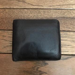 ムジルシリョウヒン(MUJI (無印良品))の無印良品 レザー 二つ折り財布 ブラウン(折り財布)