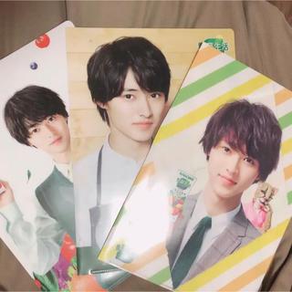 山﨑賢人 KAGOME クリアファイル3枚セット(クリアファイル)