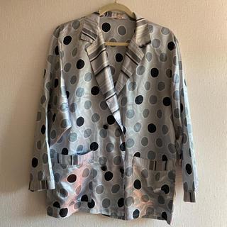 ドット ブラウス シャツ 古着 vintage ジャケット パジャマ 水玉(シャツ/ブラウス(長袖/七分))